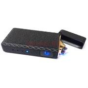 Зажигалка USB спиральная черная с сенсором