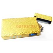 Зажигалка USB спиральная под золото с сенсорной кнопкой