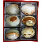 Яйцо из оникса 5 см (1,5x2 дюйма) разных оттенков 6 шт/уп