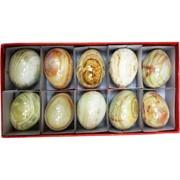 Яйца из оникса 5 см (1,25 дюйма) разных оттенков 10 шт/уп