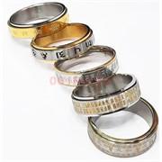 Кольцо металлическое двойное под серебро размеры в ассортименте 10 шт/уп
