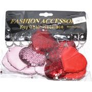 Брелок с пайетками (OD-128) сердце мягкое 120 шт/уп