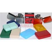Зажигалка бензиновая металлическая цветная для гравировки 10 шт/блок
