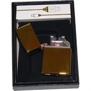 Зажигалка USB разрядная чистая для гравировки под золото