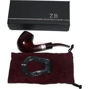 Трубка курительная ZB-004 деревянная с подставкой и чехлом