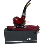Трубка курительная ZB-014 деревянная с подставкой и чехлом
