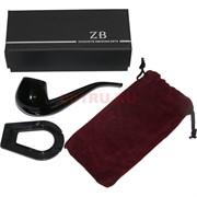 Трубка курительная ZB-012 деревянная с подставкой и чехлом
