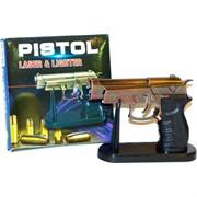 Пистолет сувенирная зажигалка M-9 с лазером