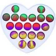 Игрушка антистресс Pop it пластмассовая «сердце»