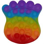 Попит антистресс игрушка пупырка «лапа» радужная