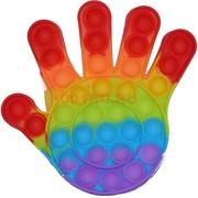 Попит антистресс игрушка пупырка «ладошка» цветная