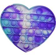 Силиконовая игрушка «сердце» попит пупырка синяя
