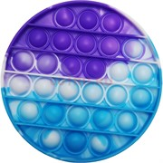 Силиконовая игрушка «круг» попит пупырка синяя