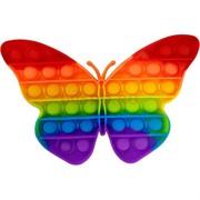 Попит игрушка «бабочка» радужная пупырка силиконовая