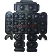 Пупырка антистресс «робот» черный