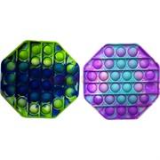 Pop it вечная пупырка силиконовая «8-угольник» разноцветный