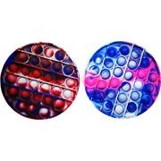 Pop it вечная пупырка силиконовая «круг» разноцветное