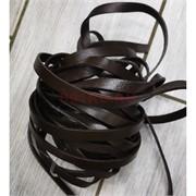 Шнурок тесьма из кожи коричневая 10 мм (цена за 1 метр)