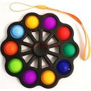 Спиннер симпл-димпл 10 пупырок цветной