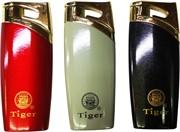 Зажигалка газовая Tiger откидная цветная