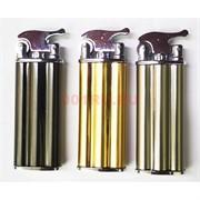 Зажигалка газовая кремневая турбо откидная 3 цвета
