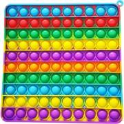 Попит игрушка пупырка «квадрат радужный» 20 см