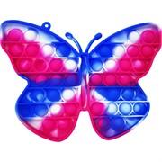 Тактильная сенсорная игрушка 20 см бабочка попит трехцветная