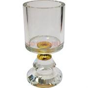 Подсвечник стеклянный «чаша» 10 см (XH103-38)
