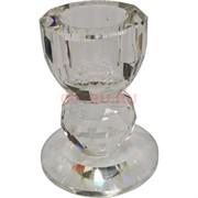 Подсвечник стеклянный малый 6,5 см (XH103-35)