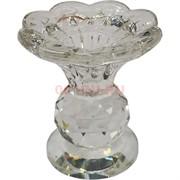 Подсвечник стеклянный «цветок» 7,5 см (XH103-33)