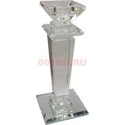 Подсвечник стеклянный «колонна» 20 см (10341)