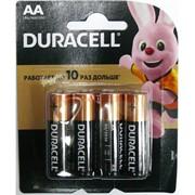 Батарейки щелочные Duracell AA (цена за 4 батарейки)