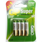 Батарейки алкалиновые GP Super AAA (цена за 4 батарейки)
