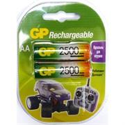 Аккумулятор GP Batteries AAA 2500 Rechargeable (цена за лист из 2 батареек)