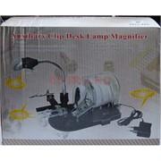 Auxiliary Clip Desk Lamp Magnifier Лупа третья рука (HY-7761) с подсветкой и подставкой под паяльник