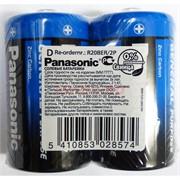 Батарейки R20BER/2P солевые (D) батарейки Panasonic 2 шт/уп (цена за упаковку)