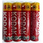 Цинк-хлоридные батарейки (AAA) R03 1,5V KODAK мизинчиковые 4 шт/уп (цена за упаковку)