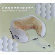 Массажная подушка для шеи U-shaped massage pillow зеленая