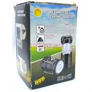 Кемпинговый светильник-фонарь перезаряжаемый 5LED+1W