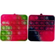 Игрушка пупырка квадрат разноцветный мини 8 см
