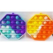 Игрушка пупырка 8-угольник разноцветный мини 9 см