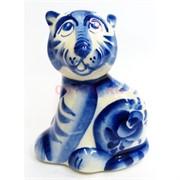 Фигурка Лидер (13) гжель синяя тигр Символ 2022 года