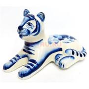 Фигурка Шерхан синяя гжель Тигр Символ 2022 года