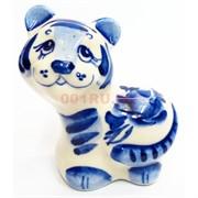 Фигурка Федя гжель синяя Тигр Символ 2022 года