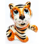 Фигурка Лео цветная гжель тигр Символ 2022 года