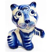 Фигурка Лео синяя гжель тигр Символ 2022 года