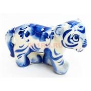 Фигурка Боб синяя гжель тигр Символ 2022 года