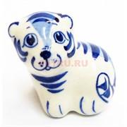 Фигурка Марсик синяя гжель тигр Символ 2022 года