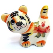 Фигурка Буба цветная гжель тигр Символ 2022 года