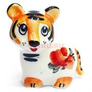 Фигурка Гоша цветная гжель тигр Символ 2022 года